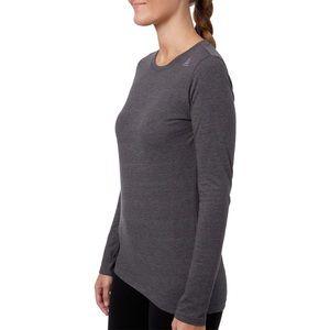 Reebok gray cotton long sleeve L